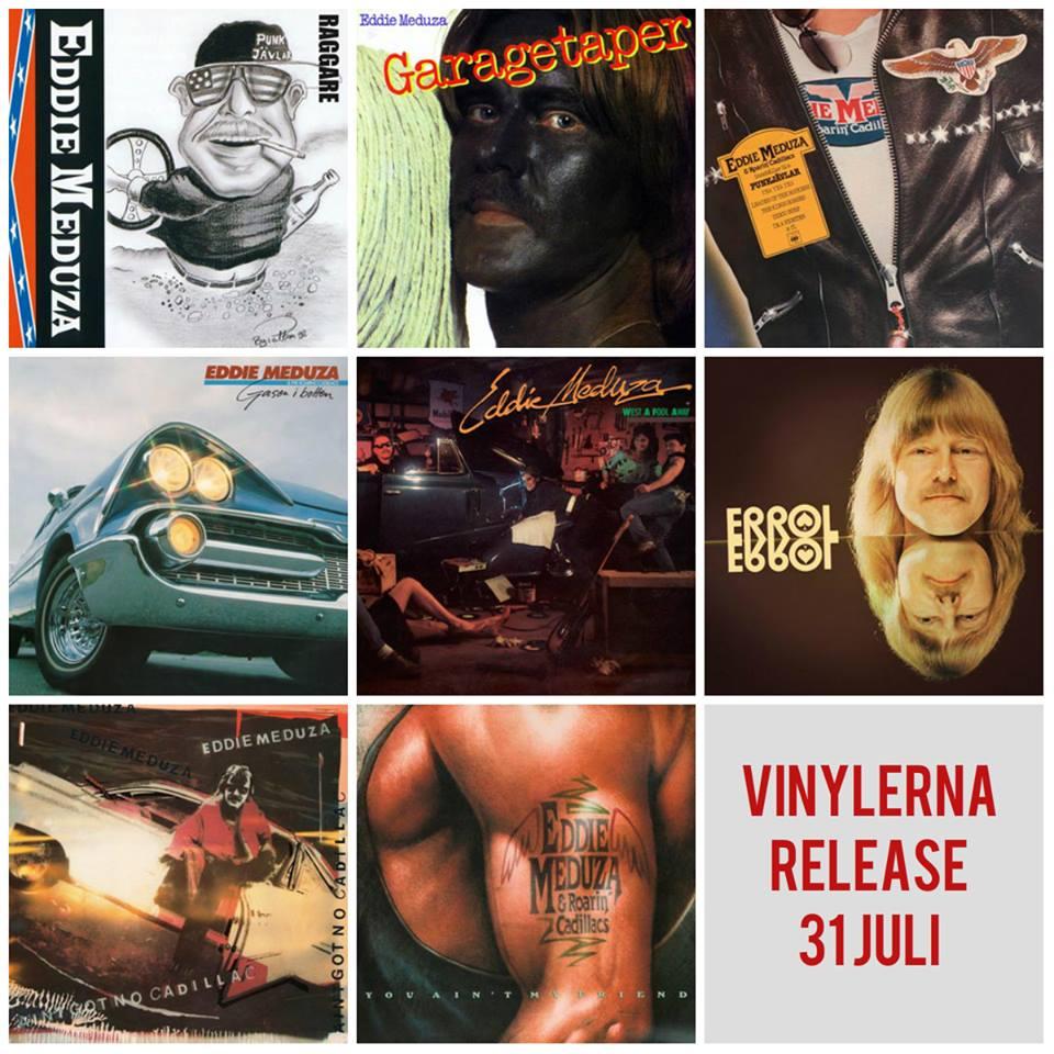Åtta klassiska Eddie Meduza album släpps på vinyl!